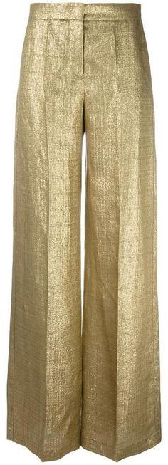 Etro metallic (Grey) tailored trousers