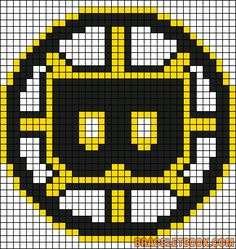 Alpha friendship bracelet pattern added by bruins hockey nhl gold boston. Perler Patterns, Loom Patterns, Beading Patterns, Cross Stitch Patterns, Beading Ideas, Embroidery Patterns, Knitting Patterns, Crochet Patterns, Boston Bruins Logo