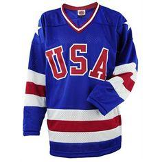 9d37d6067c8 Miracle on Ice USA Hockey 1980 Replica Away Jersey Hockey Ausrüstung, Hockey  Shop, Team