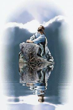 Foto animada de Jesus: Jesus medita
