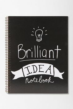 Brilliant Idea Spiral Notebook  UO/other hipster thing spinoffs DIY... back to school?