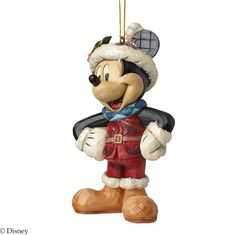 A28239 Sugar Coated Mickey Mouse Hanging Ornament- This colourful ornament of Mickey Mouse features sparkling sugary accents #Mickey #Ornament #JimShore