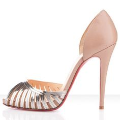 Christian Louboutin Corpus 120mm Leather Pumps Beige