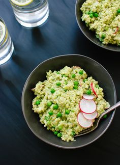 Minty pea pesto by cookieandkate.com
