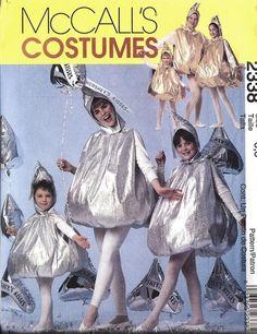 I was this in kindergarten!!!   UNCUT McCalls SEWING Pattern Adult Child Hershey Kiss Halloween Costume 2338 | eBay