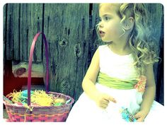 Easter picture ideas.  These are cute and seem easy.