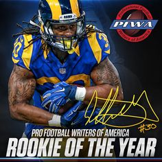 Gurley Named PFWA Rookie of the Year (Ram Tough! Once a DAWG always a DAWG)