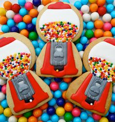 Gumball cookies! Beautiful....