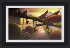 Sunset Cabin (Limited Edition Art) ~ Limited Edition Print by Rob Palmer - Branded7