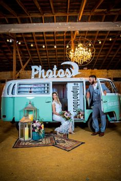 VW Bus Photo Booth | Red Bridge Photography on @loveincmag via @aislesociety
