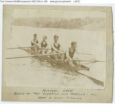 Rowed in the 1932 Los Angeles Olympics (Dartmouth, NS club 'MicMac' ) Dartmouth, The Province, Nova Scotia, Ancestry, East Coast, Lakes, The Row, Olympics, Club