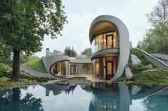 Architectural House Designs | Ausie house design Australian House Plans, Australian Homes, Contemporary Architecture, Architecture Design, Cottage Design, House Design, House Plans Australia, Futuristic Home, Futuristic Design