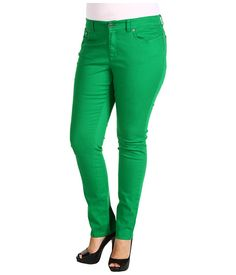 plus size green jeans - Jean Yu Beauty