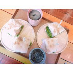 2日間みなこさんに会えて嬉しかった数年ぶりの韓国にビビってたから これから帰るど#0309#seoul#cafe#coffee#sandwich#korea