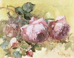 Franz Bischoff- Want to frame these roses for my pink room to go with my yellow rug from my best friend
