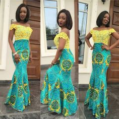 Check Out This Creative Ankara and Lace Gown Style - See http://www.dezangozone.com/2016/06/check-out-this-creative-ankara-and-lace.html