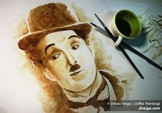 #Chaplin #Art #artist #color #coffee #paint #desing #up #go #charleschaplin #live #happy #amazing #humor #cine #cinema #fanart #creative