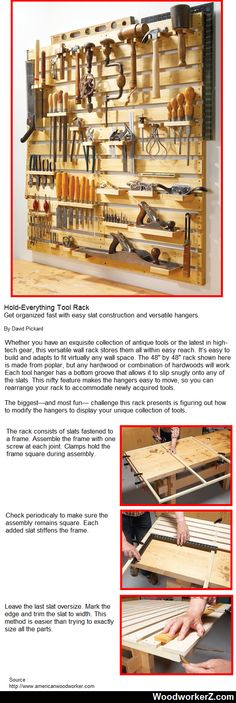 Hold-Everything Tool Rack