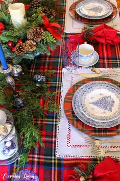 """"""" John  Happy December dear friends and welcome to Monday Morning Blooms. Tartan Christmas, Blue Christmas, Country Christmas, Christmas Home, Xmas, Western Christmas, Merry Christmas, Nutcracker Christmas, Christmas Ideas"""