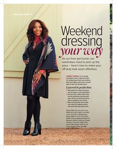 Gorgeous boots featured in magazine! Thanks for the feature! Weekend Dresses, House And Home Magazine, Off Duty, How To Make, How To Wear, Kimono Top, Dressing, Sari, Woman