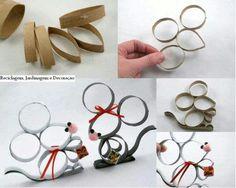Manualidad con tubos de carton
