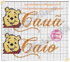 Apaixonada por Ponto Cruz Embroidery Patterns, Cross Stitch Patterns, Hama Beads, Winnie The Pooh, Mickey Mouse, Projects To Try, Lily, Stencils, Crafts