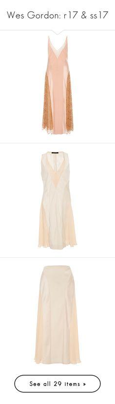 """Wes Gordon: r17 & ss17"" by livnd ❤ liked on Polyvore featuring wesgordon, resort2017, dresses, wes gordon, pink, pink metallic dress, silk slip dress, red sleeveless dress, panel dress and silk dress"