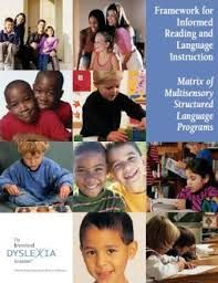 Matrix of Multisensory Structured Language Programs.  Know the Framework for Informed Reading and Language Instruction.  http://www.interdys.org/ewebeditpro5/upload/MSL2007finalR1.pdf