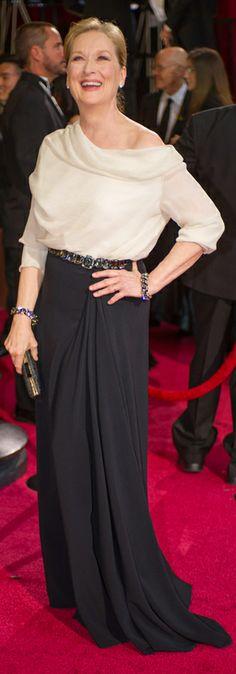 Meryl Streep wearing Lanvin at the Oscars 2014