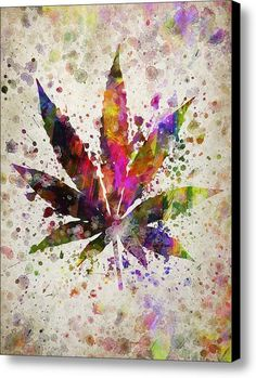 Psychedelic wall art is the epitome of funky wall art and understandably so with so many bold vibrant colors and designs. In fact psychedelic wall decor is Marijuana Leaves, Marijuana Plants, Medical Marijuana, Cannabis Oil, Art Hippie, Weed Wallpaper, Stoner Art, Weed Art, Dope Wallpapers