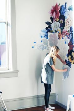 Let your walls bloom with removable, DIY decals.