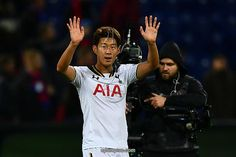 MOSCOW, RUSSIA - SEPTEMBER 27: Heung-Min Son of Tottenham Hotspur celebrates victory after the UEFA Champions League Group E match between PFC CSKA Moskva and Tottenham Hotspur FC at Stadion CSKA Moskva on September 27, 2016 in Moscow, Russia
