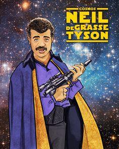 Neil deGrasse Tyson / Lando Calrissian Print (Cosmos / Star Wars).