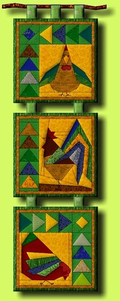 great use for the paper piecing patterns from quilting  Chicken Run (Pattern)