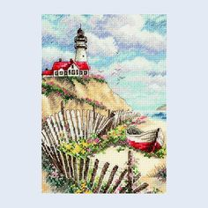 Cliffside Beacon - Dimensions counted cross stitch kit