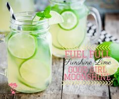 Need to spice up your Good Girl Moonshine for this summer weather? This Sunshine Lime Good Girl Moonshine does not disappoint!
