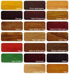 Oak Wood Stain Colours