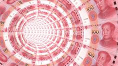 #Tunnel towards a light textured with #Chinese RMB – CreativityGems
