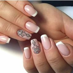 Beautiful and Amazing Nail Art Designs for 2019 Page 7 of 20 Fashion Michelle Nail Art Designs, French Nail Designs, Bright Red Nails, Green Nails, Christmas Nail Designs, Christmas Nails, Panda Nail Art, Manicure, French Tip Nails