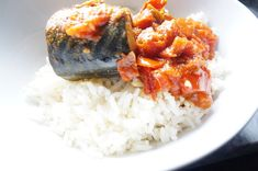 Mackerel In Tomato Sauce – Quick Stew for Rice - African recipes - Sauce Recipes, Seafood Recipes, Cooking Recipes, Quick Recipes, Mackerel Fish, Spanish Mackerel, Quick Fish, Coffe Recipes, Crohns Recipes