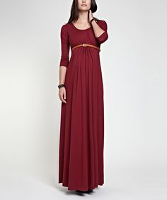40e9f852db0 Isabella Oliver Wine Grace Maternity Maxi Dress