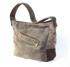 Soft lamb suede bag