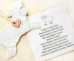 25 Baptism Favors - Seed Paper Lambs - Plantable Lambs - Flower Seed Favors - Christening Favors on Etsy, $48.90