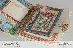 Tati, Mixed Media Album, Recipe Book, Home Sweet Home, Product by Graphic 45