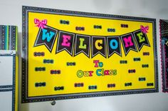 Welcome to Our Class Chalkboard Brights Bulletin Board