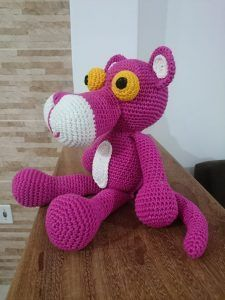 Crochet Dolls Free Patterns, Crochet Toys, Tutorial Amigurumi, Pink Panter, Pink Stars, Cute Toys, Peppa Pig, Handmade Toys, Bead Weaving