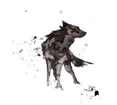 Wolf.ink by NelyaBelka.deviantart.com on @DeviantArt