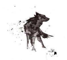 Wolf.ink by NelyaBelka.deviantart.com on @DeviantArt