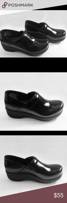 Realistic Shoes For Crews Black Patent Leather 9074 Slip-resistant Clogs Size 9.5 New Clothing, Shoes & Accessories
