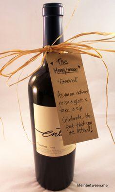 wine bridal shower gift honeymoon bottle